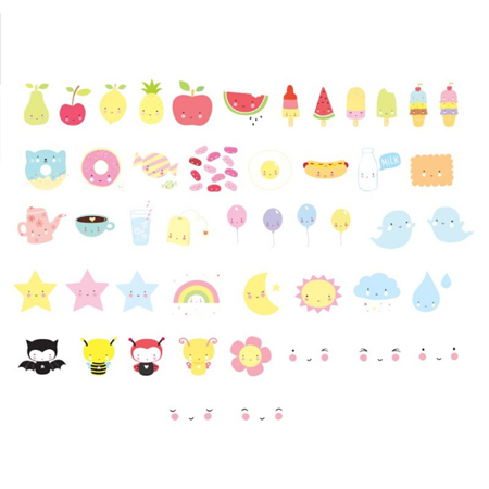 A Little Lovely Company® Lightbox različni seti črk - Kawaii