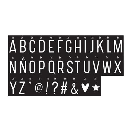 A Little Lovely Company® Lightbox različni seti črk - Monochrome