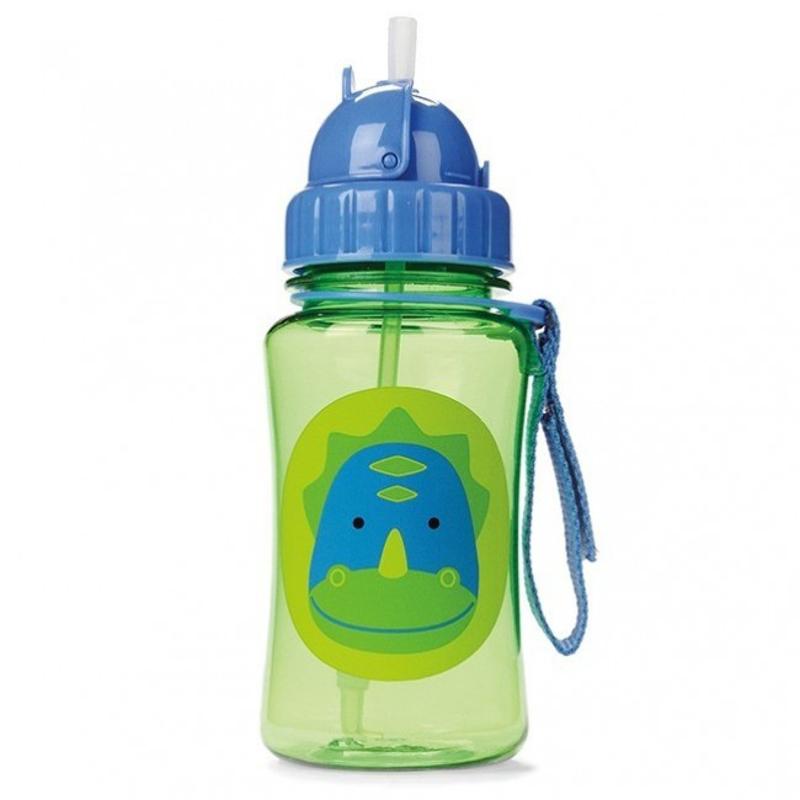Skip Hop® Steklenička s slamico Dinozaver