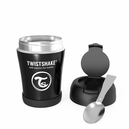 Twistshake® Termo posodica za hrano 350ml Black