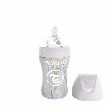 Picture of Twistshake® Anti-Colic Stainless Steel 260ml Marble Grey
