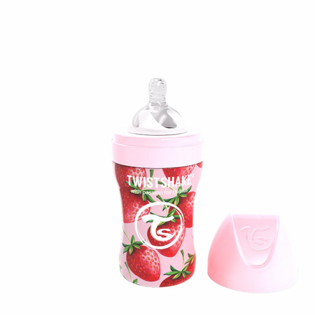 Picture of Twistshake® Steklenička iz nerjavečega jekla Anti-Colic 260ml Strawberry
