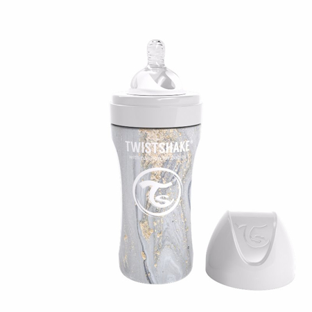 Picture of Twistshake® Anti-Colic Stainless Steel 330ml Marble Grey