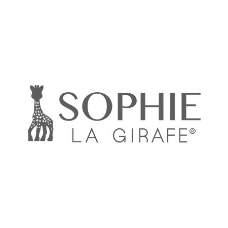 Vulli® Obroček žirafa Sophie z barvnimi liki