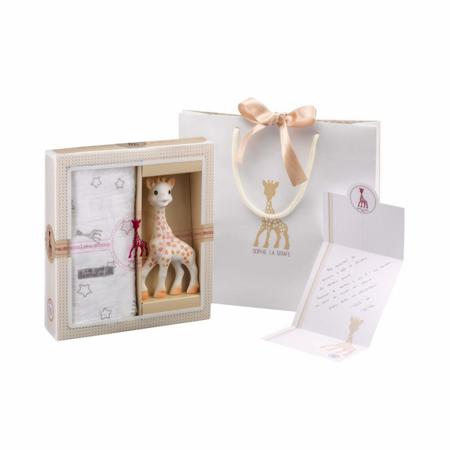 Immagine di Vulli® Set regalo Giraffa Sophie e mini mussola Sophiesticated