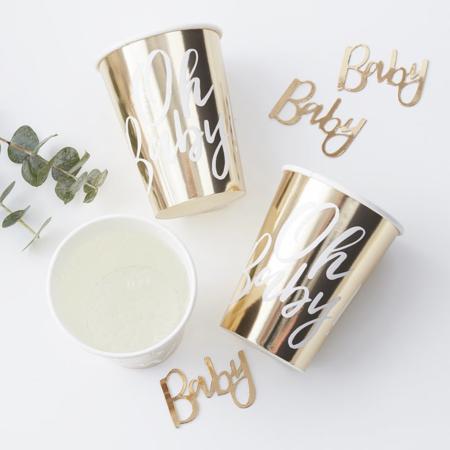 Slika Ginger Ray® Papirnati kozarčki Oh Baby! 8 kosov