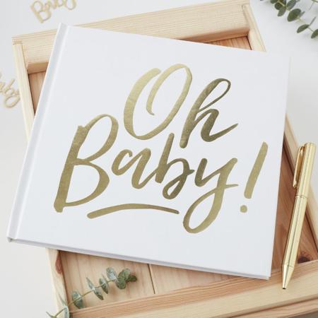 Slika Ginger Ray® Knjiga spominov za goste Oh Baby!