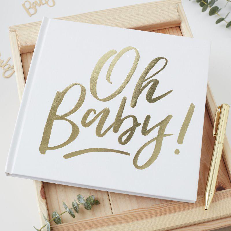 Ginger Ray® Knjiga spominov za goste Oh Baby!