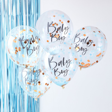 Picture of Ginger Ray® Blue Baby Boy Confetti Balloons Twinkle Twinkle
