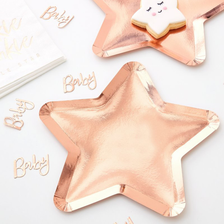 Ginger Ray® Papirnati krožniki Twinkle Twinkle 8 kosov