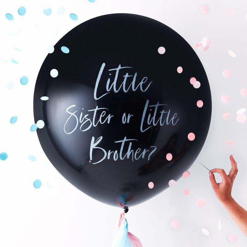 Ginger Ray® Balon z dodatki za razkritje spola Little Sister/Brother