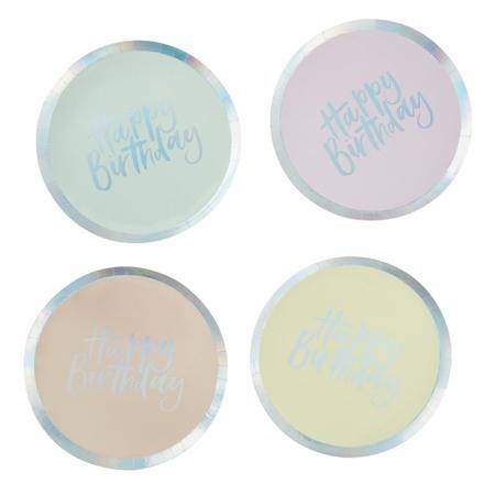 Ginger Ray® Papirnati krožniki Pastel Party 8 kosov