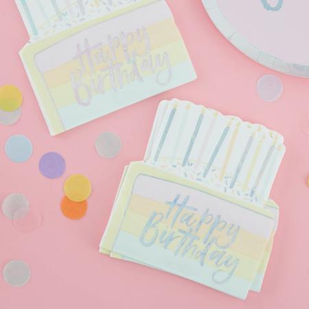 Slika Ginger Ray® Cake papirnate serviete Pastel Party 16 kosov