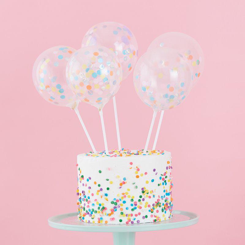 Ginger Ray® Okrasni baloni za torto Pastel Party 5 kosov