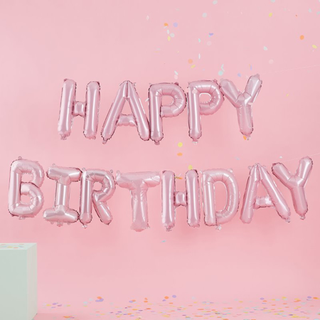 Slika Ginger Ray® Viseči baloni Gerlanda Mat Pastel Party