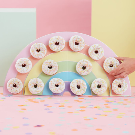 Slika Ginger Ray® Rainbow stojalo za krofe Pastel Party