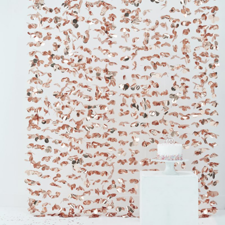 Immagine di Ginger Ray® Decorazione Tenda a Pois Rose Gold