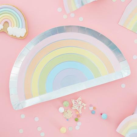 Slika Ginger Ray® Papirnati krožniki Pastel Party 8 kosov