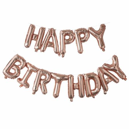 Slika Ginger Ray® Viseči baloni Happy Birthday Rose Gold