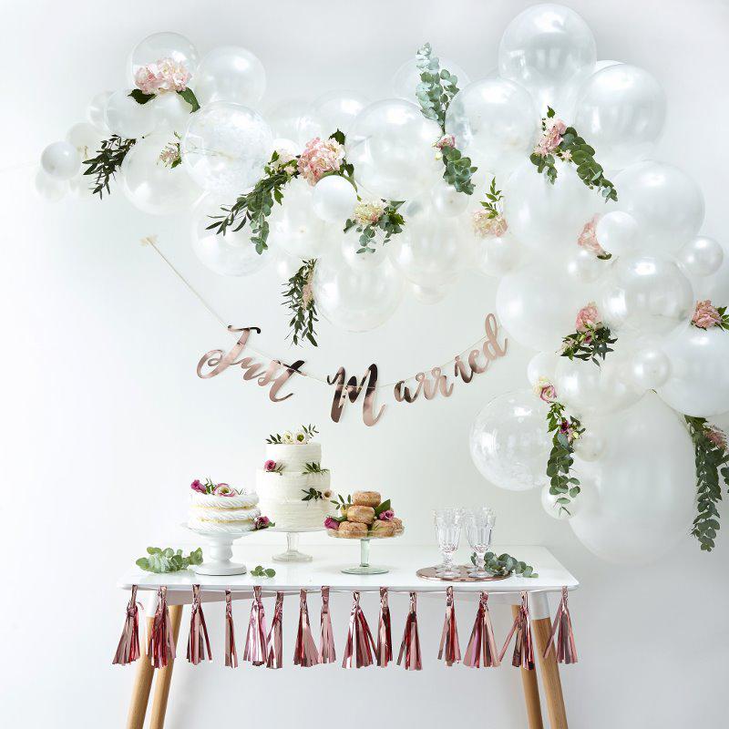 Ginger Ray® Lok iz balonov White