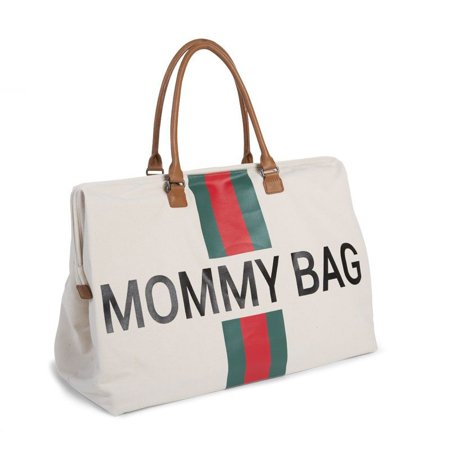 Childhome® Previjalna torba Mommy Bag Big Green/Red
