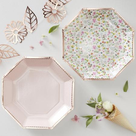 Slika Ginger Ray® Papirnati krožniki Ditsy Floral 8 kosov