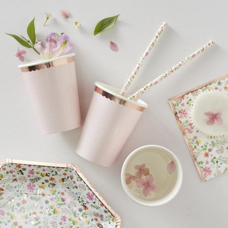 Slika Ginger Ray® Papirnati kozarčki Ditsy Floral 8 kosov