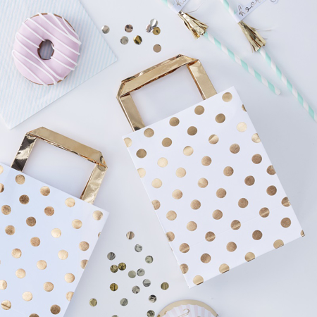 Picture of Ginger Ray® Gold Polka Dot Party Bags Pick & Mix