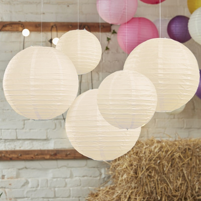 Ginger Ray® Papirnati lampion Ivory