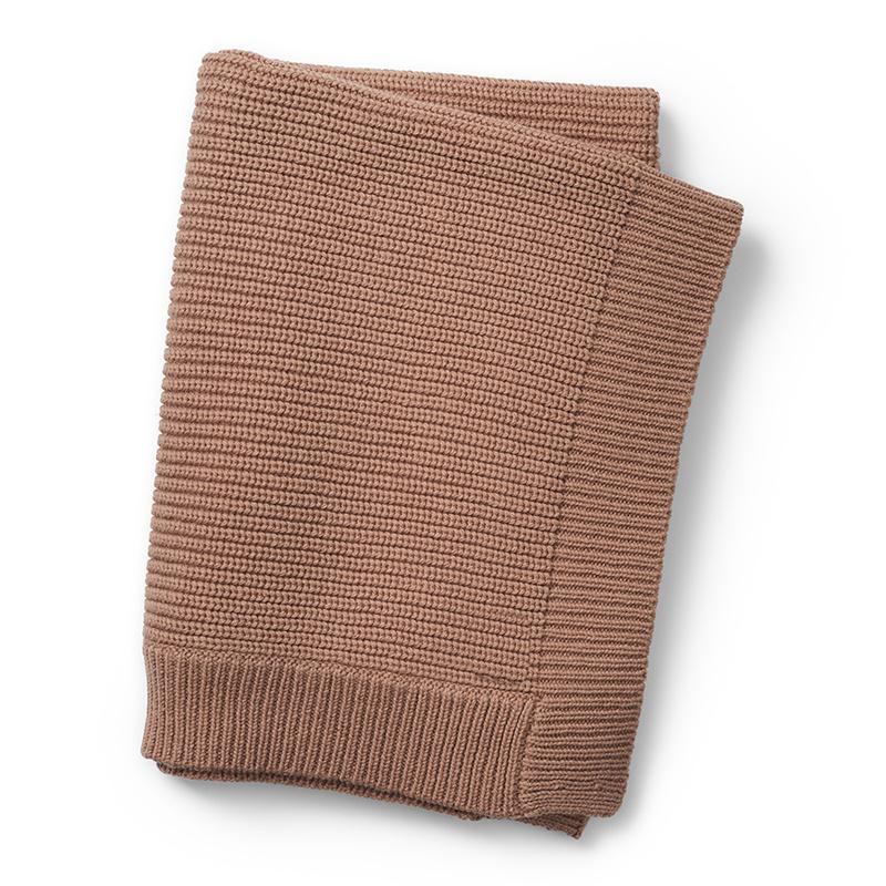 Elodie Details® Pletena volnena odejica Faded Rose 70x100