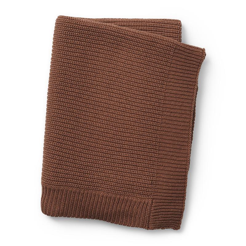 Elodie Details® Pletena volnena odejica Burned Clay 70x100