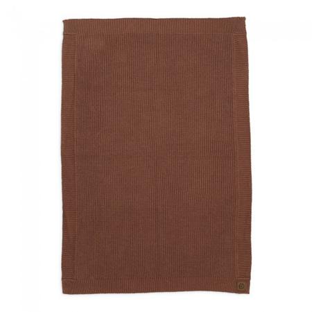 Slika Elodie Details® Pletena volnena odejica Burned Clay 70x100