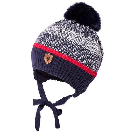 Picture of Jamiks® Children's Winter Cap Duo Dark Blue