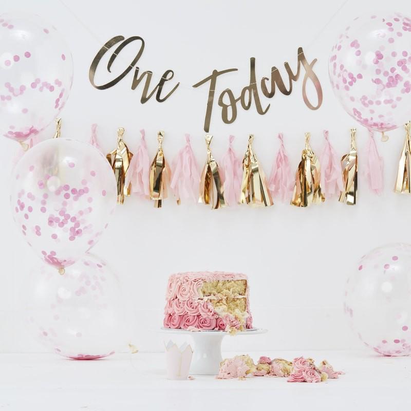 Ginger Ray® Cake Smash za 1. rojstni dan Pink