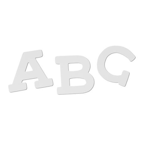 BamBam® Lesene črke Bele