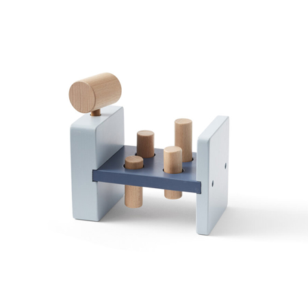 Kids Concept® Lesena igračka s kladivom Aiden Blue