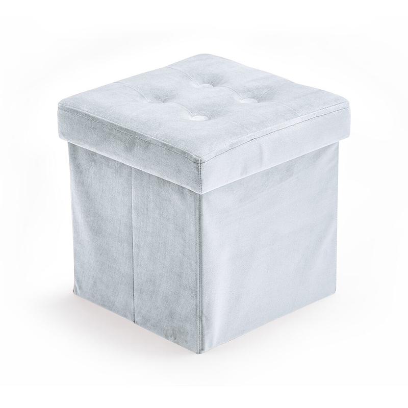 Kids Concept® Sedež in škatla za shranjevanje Velvet Light Blue