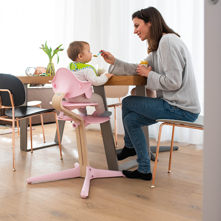 Nomi® Otroški stolček Pale Pink (sedež, naslonjalo, podpore za noge)