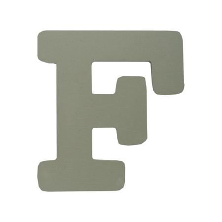 BamBam® Lesene črke Sive - F