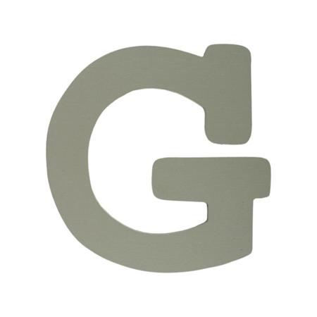 BamBam® Lesene črke Sive - G