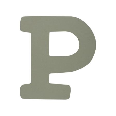 BamBam® Lesene črke Sive - P