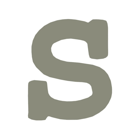 BamBam® Lesene črke Sive - S