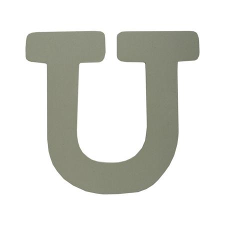 BamBam® Lesene črke Sive - U