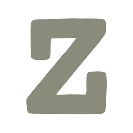 BamBam® Lesene črke Sive - Z