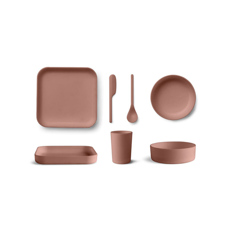 Immagine di Liewood® Junior Set pappa bamboo Aiko Dark Rose