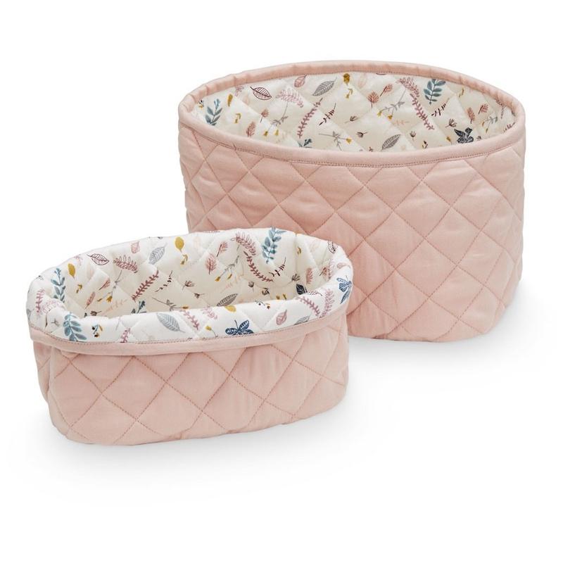 CamCam® Set 2 bombažni košev za shranjevanje Blossom Pink