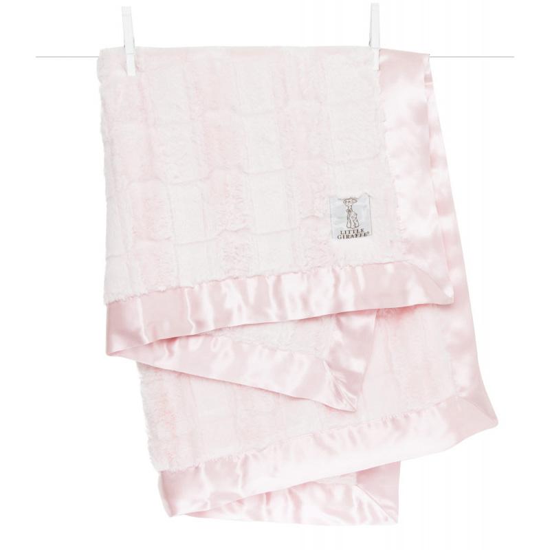 Little Giraffe® Otroška odejica Luxe Waterfall Pink