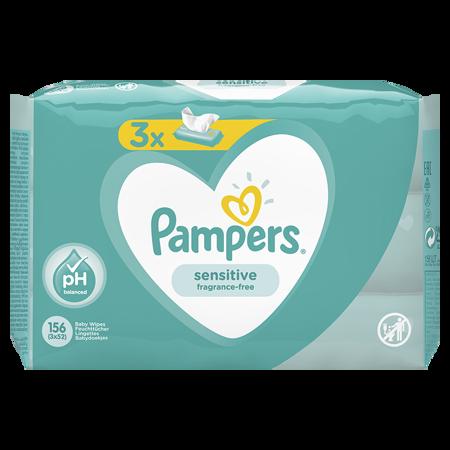 Slika Pampers® Otroški čistilni robčki Sensitive 3x52 kosov