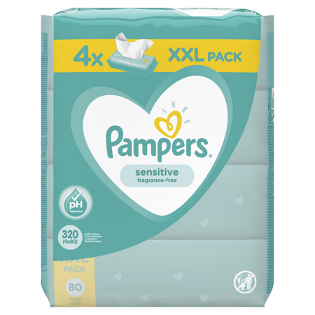 Immagine di Pampers® Salviettine umidificate Sensitive 4x80 pz.