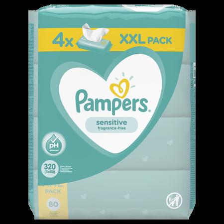 Slika Pampers® Otroški čistilni robčki Sensitive 4x80 kosov